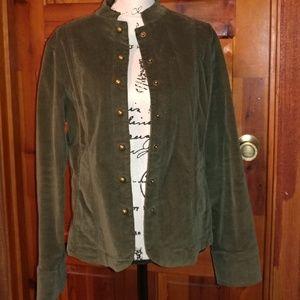 Olive green corduroy blazer